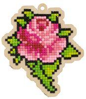 "Алмазная вышивка-мозаика ""Брелок. Бутон розы"" (86х98 мм)"