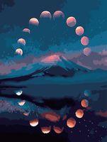 """Картина по номерам """"Лунный цикл"""" (400х500 мм)"""