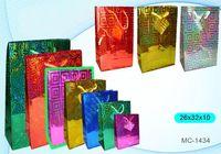 """Пакет бумажный подарочный """"Голография"""" (в ассортименте; 26x32x10 см; арт. МС-1434)"""