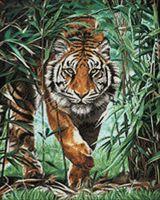 "Алмазная вышивка-мозаика ""Затаившийся тигр"" (400х500 мм)"