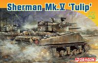 """Американский танк """"Sherman Mk.V Tulip"""" (масштаб: 1/72)"""