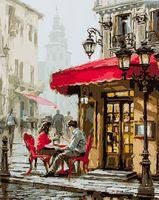 "Картина по номерам ""Летнее кафе"" (400х500 мм)"