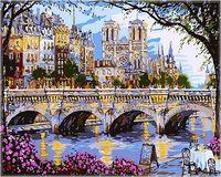 """Картина по номерам """"Столик у моста"""" (400х500 мм)"""