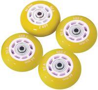 Комплект светящихся колёс для роликов (4 шт.; жёлтый)