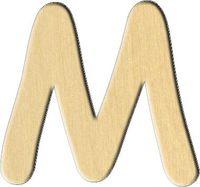 """Заготовка деревянная """"Английский алфавит. Буква M"""" (75х70 мм)"""