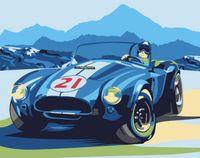 "Картина по номерам ""Ретро автомобиль Cobra"" (165х130 мм)"