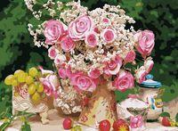 "Картина по номерам ""Букет чайных роз"" (400х500 мм)"