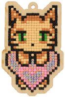 """Алмазная вышивка-мозаика """"Брелок. Любовь кота"""" (61х95 мм)"""