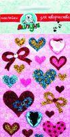 """Наклейки блестящие """"Сердца и бантики"""""""
