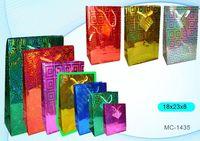"""Пакет бумажный подарочный """"Голография"""" (в ассортименте; 18x23x8 см; арт. МС-1435)"""