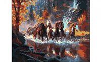 "Картина по номерам ""Табун лошадей"" (400x500 мм)"