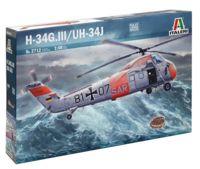 """Сборная модель """"Американский транспортный вертолет H-34G.III/UH-34J"""" (масштаб: 1/48)"""
