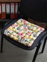 """Подушка на стул """"Concept Ecology. Цветы на бежевом"""" (40х40 см)"""