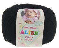"Пряжа ""ALIZE. Baby Wool №60"" (50 г; 165 м; черный)"