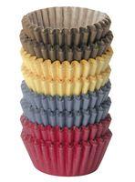 """Форма бумажная для выпекания кексов """"Delicia"""" (200 шт.; цветной)"""