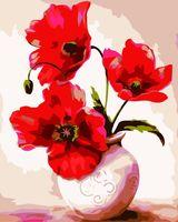 "Картина по номерам ""Маки в вазе"" (400х500 мм)"