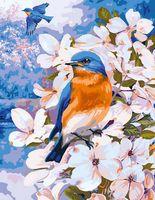 """Картина по номерам """"Птица в цветах"""" (400х500 мм; арт. GX8180)"""