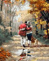 """Картина по номерам """"Прогулка по осеннему лесу"""" (400х500 мм)"""