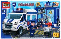 """Конструктор """"Полиция. Полицейский участок с газелью"""" (120 деталей)"""