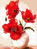 "Картина по номерам ""Маки в вазе"" (300х400 мм)"