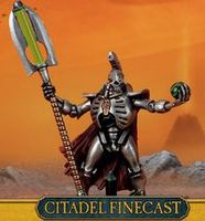 """Миниатюра """"Warhammer 40.000. Finecast: Necrons Lord with Resurrection Ord"""" (49-61)"""