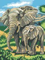 """Картина по номерам """"Слоны"""" (400х300 мм)"""