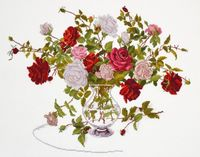 """Вышивка крестом """"Букет роз"""" (320x240 мм)"""