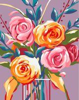 """Картина по номерам """"Нежные розы"""" (165х130 мм)"""