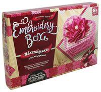 "Набор для изготовления шкатулки ""Embroidery Box. Розовая шкатулка"""