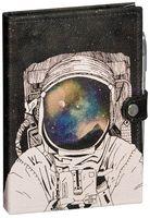 """Блокнот """"Космонавт"""" (А5; черная бумага)"""