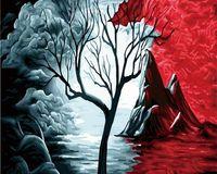 "Картина по номерам ""Одинокое дерево"" (400х500 мм)"