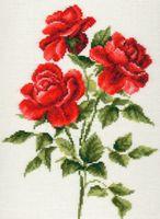 """Вышивка крестом """"Три розы"""""""