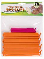 Набор прищепок для пакетов пластмассовых (12 шт.)