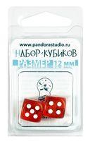"""Набор кубиков D6 """"Прозрачный"""" (12 мм; 2 шт.; оранжевый)"""