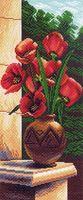 """Канва с нанесенным рисунком """"Букет тюльпанов"""""""