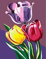 """Картина по номерам """"Тюльпаны"""" (165х130 мм)"""