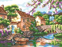 """Картина по номерам """"Цветущий причал"""" (300х400 мм; арт. PC3040057)"""