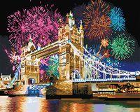 """Алмазная вышивка-мозаика """"Новогодний феерверк в Лондоне"""" (400х500 мм)"""