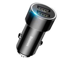 Автомобильное зарядное устройство Baseus Small Crew 3.4A (черный)