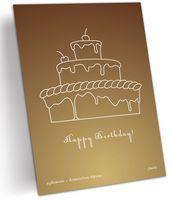 """Открытка """"Счастливого дня рождения"""" (арт. 0602)"""