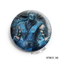 """Значок большой """"Mortal Kombat. Sab-Zero"""" (арт. 346)"""