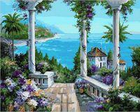 "Картина по номерам ""Терраса с видом на бухту"" (400х500 мм)"