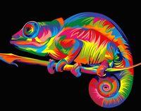 "Картина по номерам ""Радужный хамелеон"" (165х130 мм)"