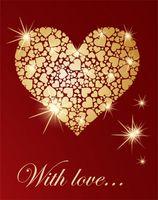 "Пакет бумажный подарочный ""Love"" (арт. KOS12008)"