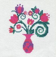 "Вышивка крестом ""Ваза с цветами"" (190х190 мм)"