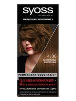 """Крем-краска для волос """"Syoss"""" тон: 4-88, карамельный каштановый"""