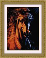 """Вышивка крестом """"Огненный конь"""" (360х500 мм)"""