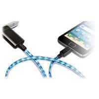 Кабель-зарядка Micro USB Visible Green для HTC, Samsung Galaxy S1/S2 (White)