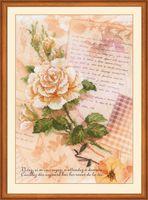 """Вышивка крестом """"Письма о любви. Роза"""" (210х300 мм)"""
