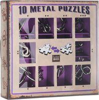 Набор из 10 металлических головоломок (фиолетовый)